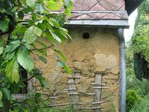 Vielle dépendance en torchis sur ossature bois ; architecture traditionnelle picarde