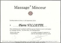 Massage Minceur et Massage Chi Nei Tsang, propose par Pierre Villette