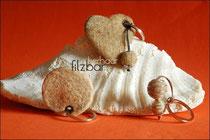Schlüsselanhänger Hundehaare Katzenhaare