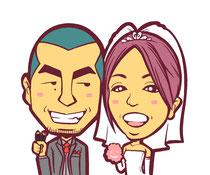 結婚式 似顔絵 ウェルカムボード