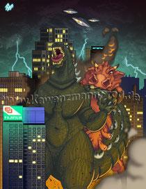 Godzilla vs. Dicke Berta