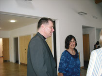Angela Godfrey with Fr Peter Montgomery