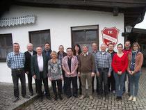 Unser Foto zeigt die neugewählte Vorstandschaft des TV 1863 Schwürbitz.