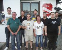 Anlässlich des Sommerfestes der Tischtennisabteilung des TV Schwürbitz wurden Spieler und Spielerinnen ausgezeichnet. -hh-