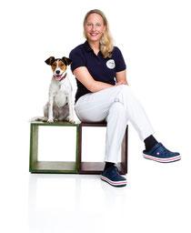 Tierärztin Anne Gamalski mit Pemba