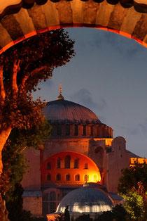 Abendlicher Blick auf die Hagia Sophia