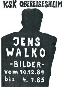 Jens Walko, Ausstellung 1984 KSK NSU, Plakat