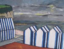 Strandhütten bei Yport,Normandie, Jens Walko Kunst, 2011