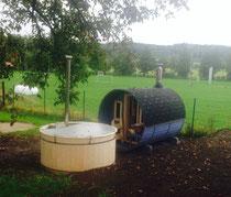 Die Sauna mit Pool