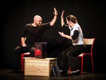 """Sylvie Audureau et Damien Mignot dans """"Histoires de Signes"""""""