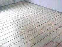 Holzfussboden, neuverlegt, schleifen