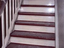 Treppenstufen (Ochsenblut) Tritt- und Setzstufe abschleifen