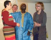 Nivert Kretschmer, Rainer Brandenburger, Ibrahima Diaye, Sabine Freiwald (v.l.n.r.)