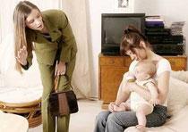 La transition entre la maman et l'assistante maternelle