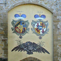 © Traudi - Wappen an der Fassade des Oberen Torturms