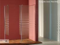 serigrafia lineal para mampara de cristal