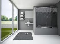 Mampara de baño serigrafiado Globos