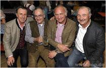 Hatten auch in diesem Jahr wieder ihren Spaß am Programm: die vier ehemaligen Pockinger Buam (v.l.) Klaus Ragaller, Georg Müller, Dr. Jörg Mangold und Karl Daschner.