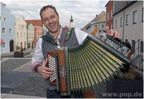 Fred Obernhuber mit Quetschn