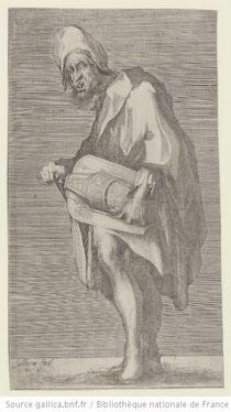 Le mendiant à la vielle, Bellange Fecit