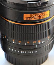 Rokinon 85/1.4 IF