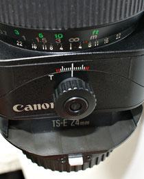 Canon TS-E 24/3.5 knob