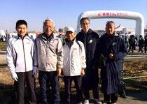 板橋cityマラソン・・・左から2番目が中村克郎さん