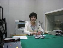 ラジオのスタジオです