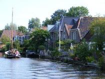Au fil de l'eau, entre Leeuwarden et Dokkum