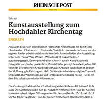 Rheinische Post, Ausstellung, Ankündigung, Vernissage, Annette Palder, WEG WEISER,