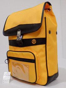 ランリック 大型サイズ クッション付ベルト (裏地付) (黄色) 斜め前