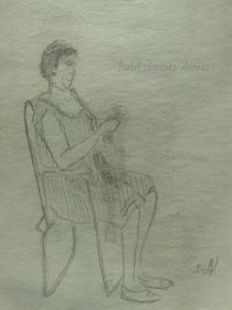 Mujer con tijeras
