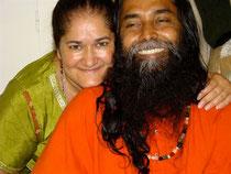 Avec mon ami Anando Gopal Das Baûl