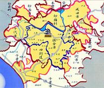 安政年間の佐倉領(投影図)