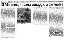 Recensione al concerto in omaggio a Fabrizio De André di Giovanni Di Mambro tenuto il 19 ottobre 2002