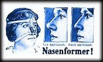 """Werbeanzeige Nasenformer zu """"Die zersägte Dame"""""""