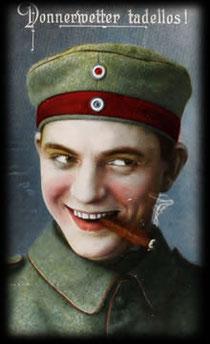 """Bild wilhelminischer Soldat zu """"Donnerwetter - tadellos!"""""""