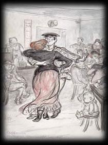 Tanzendes Paar von Heinrich Zille