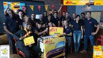 Vente de gâteau chez DHL Express au bénéfice de Bien Vivre l'Autisme