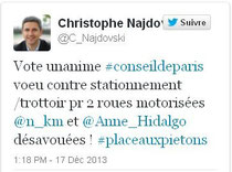 Tweeter Christophe Najdovski
