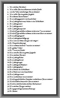 ... der Proust'sche Fragebogen