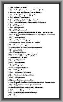 Prousts Fragebogen...