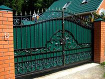 ворота кованые профнастил купить тюмень