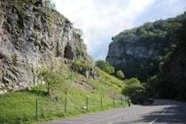 Une vue des gorges du Cheddar