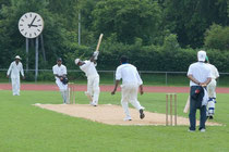 A Swiss Cricket Mr. Pickwick Cup match in Uster some years ago