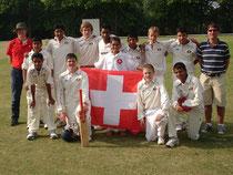 Swiss Under 15 squad at Burwell