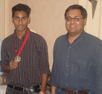 U19 Bob Barber award winner Manish Lal & coach Yateendra Sinh