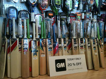 Cricket equipment in stock at Discount Sports