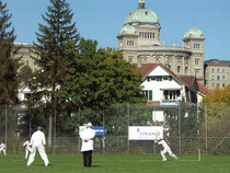 Berne Cricket Ground with Bundeshaus looking over