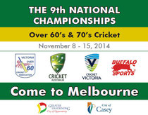 Overs 60s World Cup in Mebourne (8-15.11.2014)